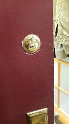 Gold Lock On Door