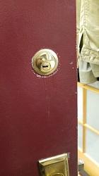 Gold Lock On Door